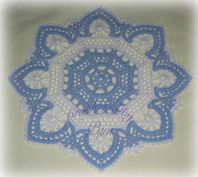 Octagon Crown   Pinterest   Deckchen, Häkeldeckchen und Tischdecken