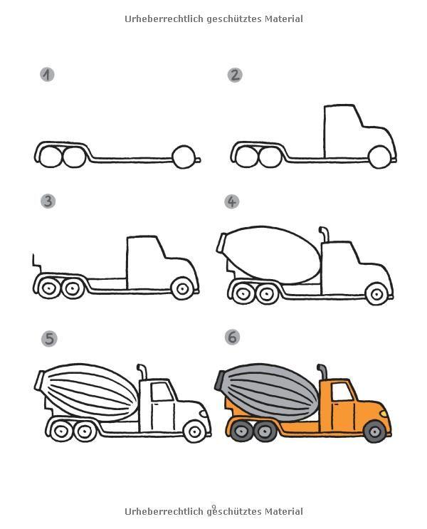 f r kleine zeichner fahrzeuge zeichnen lernen leicht. Black Bedroom Furniture Sets. Home Design Ideas