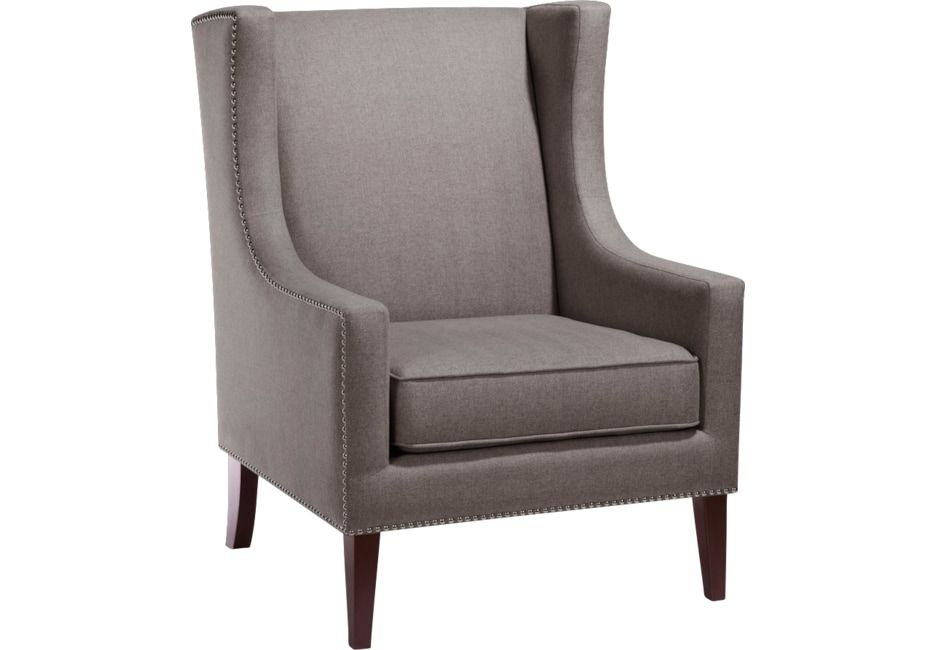 Best Addington Charcoal Accent Chair Fabric Accent Chair 400 x 300