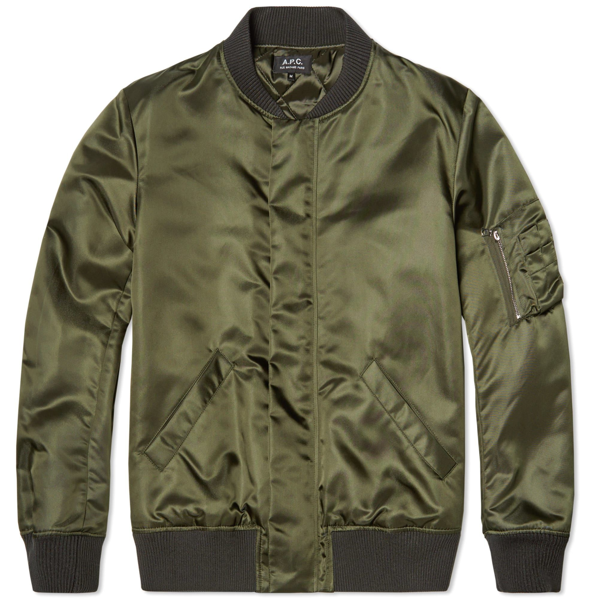 A P C Rudy Bomber Jacket Bomber Jacket Mens Outfits Message T Shirts [ 2000 x 2000 Pixel ]
