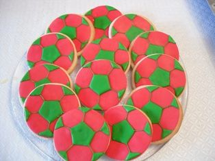 soccer balls - do in team colors