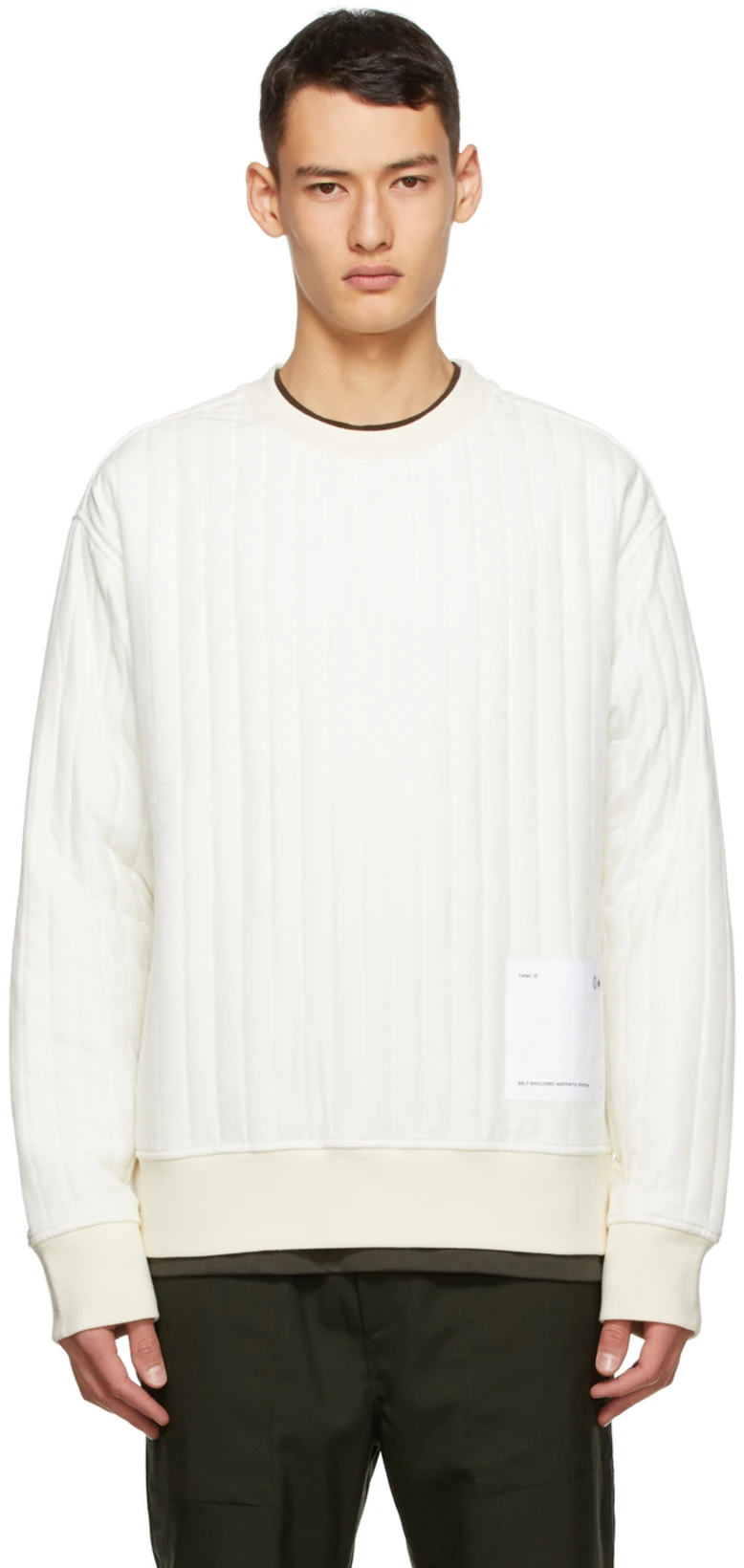Oamc For Men Ss21 Collection Oamc Black Adidas Sweatshirts [ 1640 x 778 Pixel ]