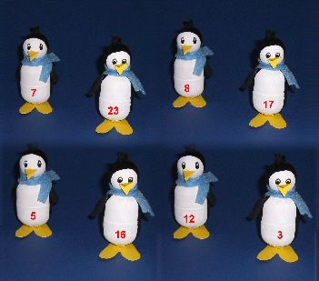 adventskalender berraschungseier pinguin basteln mit kindern berraschungen basteln und advent. Black Bedroom Furniture Sets. Home Design Ideas