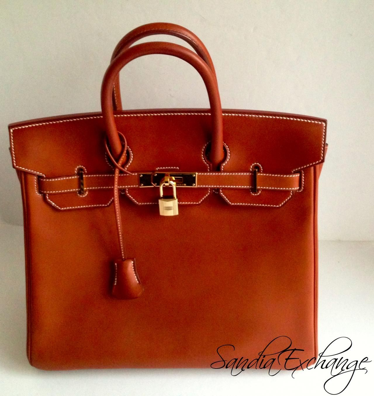 4d1678db65 HERMES HAC 32 cm Barenia Birkin Fauve Gold Hardware Authentic HERMÈS -  Images hosted at BiggerBids.com