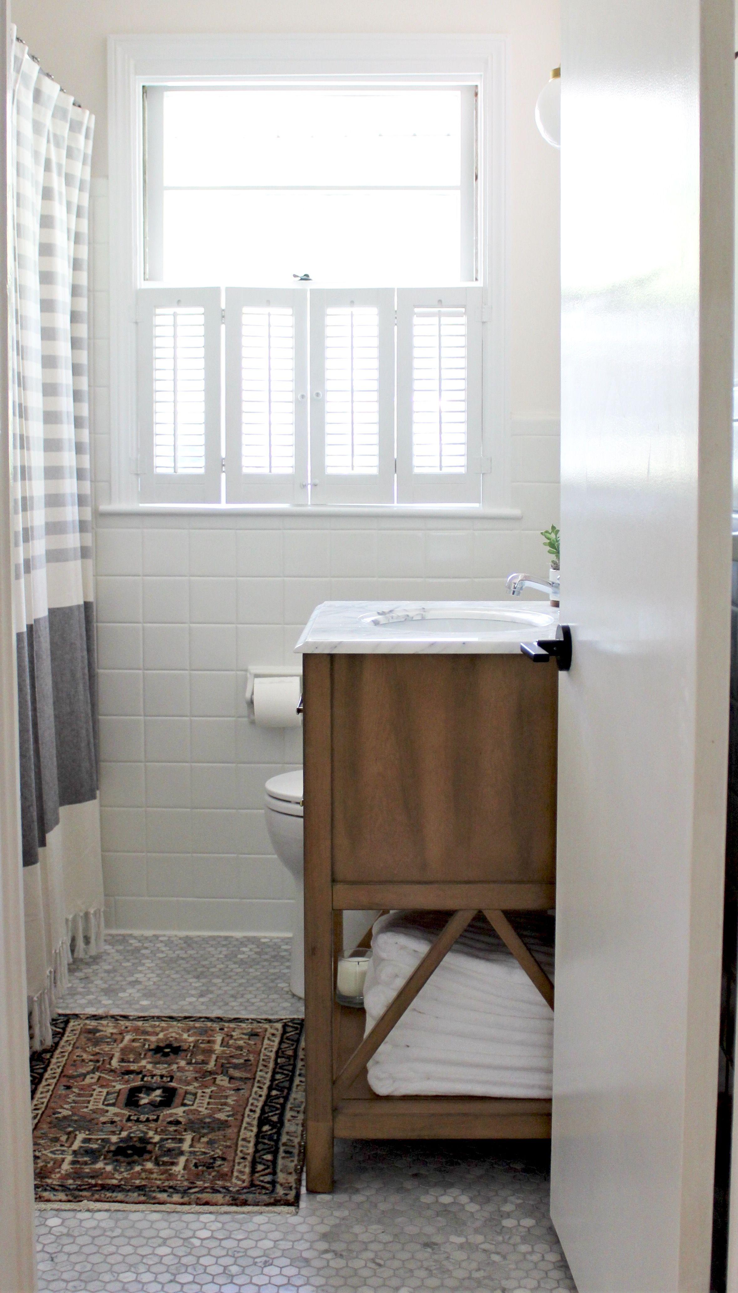Eclectic mid-century bathroom renovation remodel decor design with ...