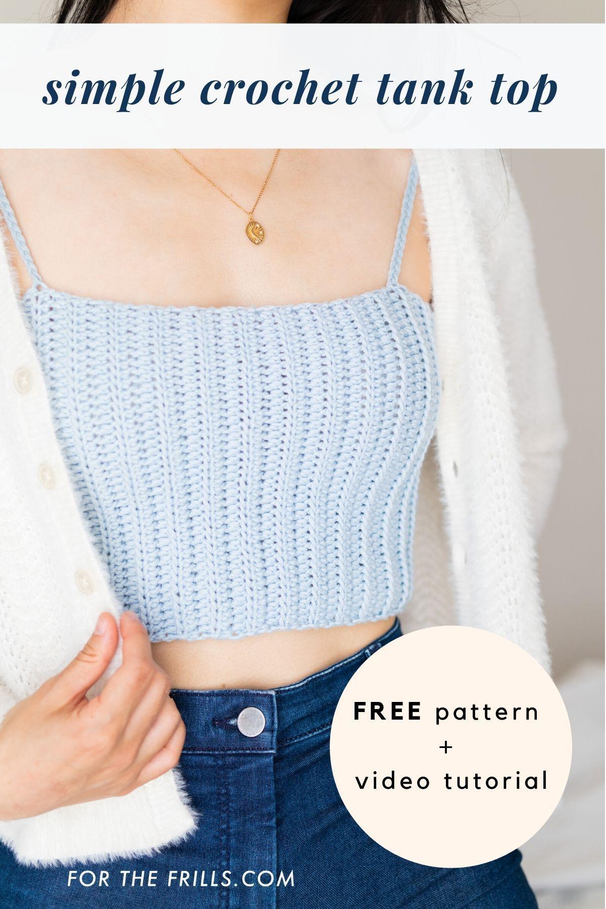 Beginner Crop Top for summer – free crochet pattern summer diy