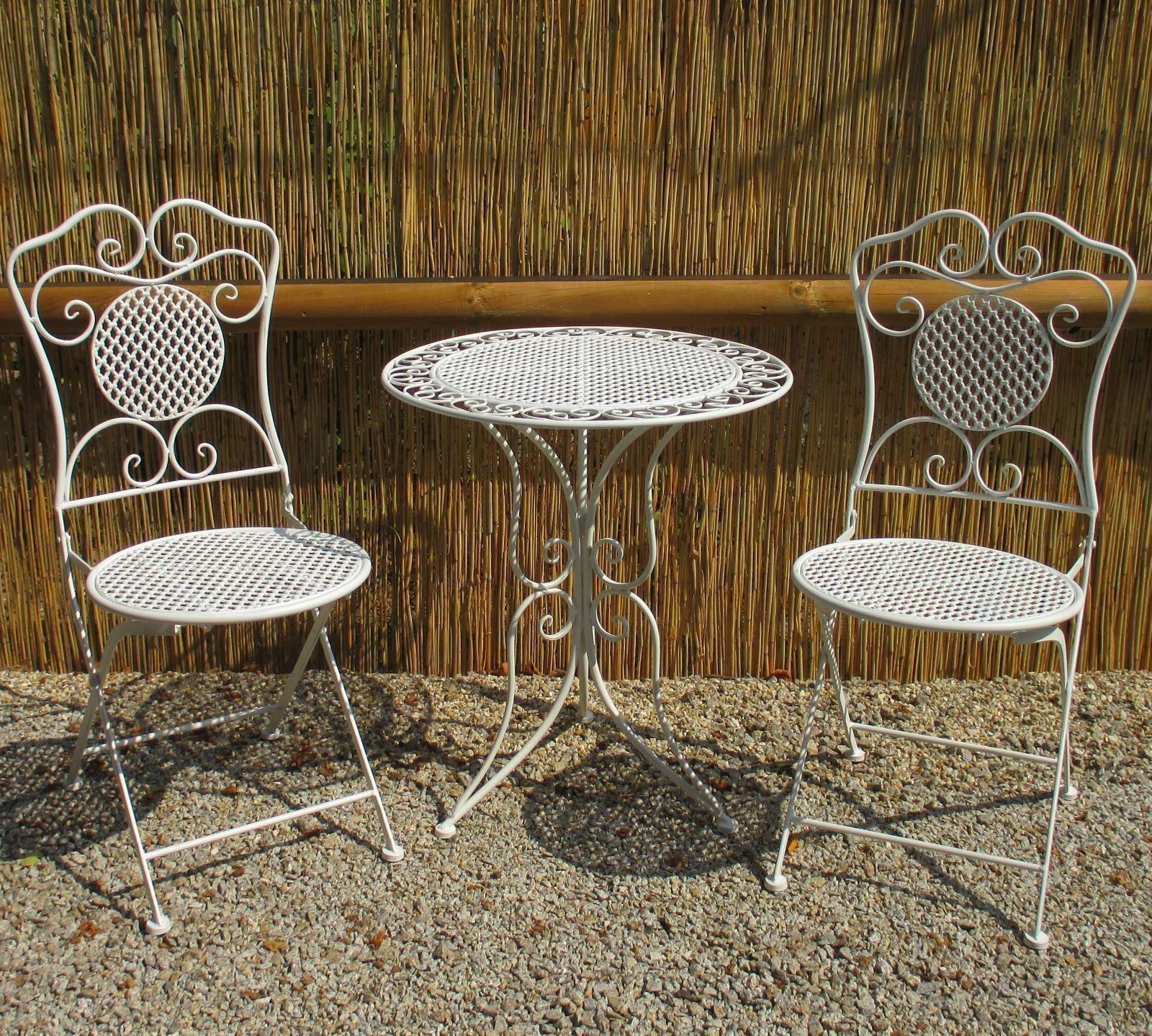 Bistroset Gartenmobel Eisen 1 Tisch 2 Stuhle Weiss An Bistroset Gartenmobel Eisen 1 Tisch 2 Stuhle Weiss Antikstil Balkon Si Weisse Stuhle Gartenmobel Tisch
