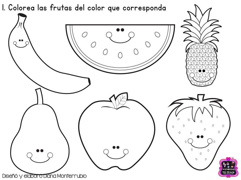 coloring pages las frutas spanish - photo#19