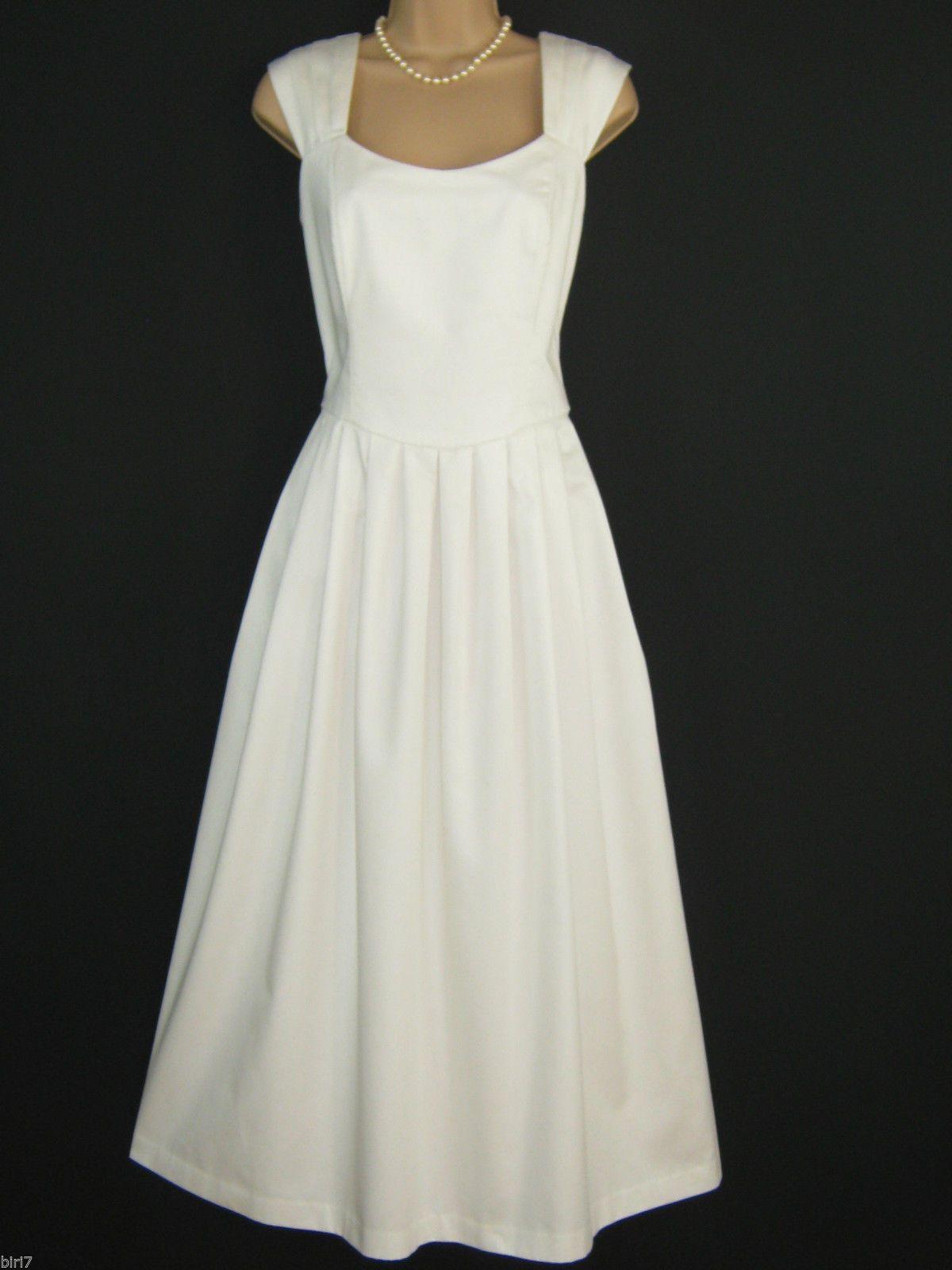 Laura ashley vintage summer white wedding / occasion dress & jacket ...