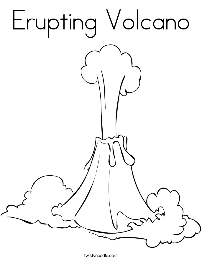 Volcano Coloring Page Cartoon Coloring Pages Coloring Pages For Kids Volcano Coloring Pages