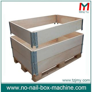 Collapsible Wood Pallet Collar With Pallet And Lid Pallet Collars Pallet Collars Pallet Boxes Wood Pallets