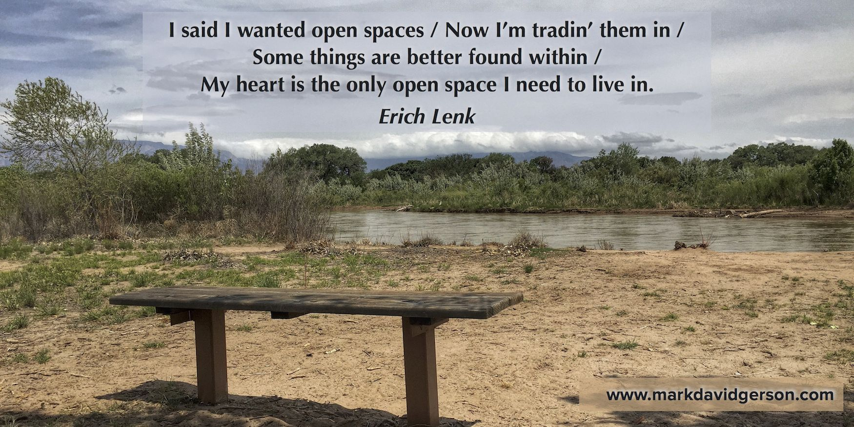 This song lyric changed my life when singer/songwriter Erich Lenk pulled out his guitar and sang it for me at Ojai's Meditation Mount. Why was I in Ojai and how did my life change? Find out in Acts of Surrender: A Writer's Memoir! • http://www.markdavidgerson.com/books/actsofsurrender