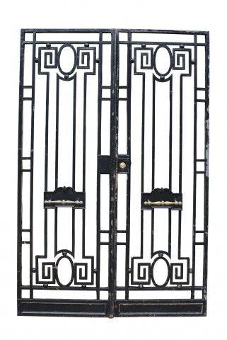 Pair Of Antique Wrought Iron Pedestrian Gates Uk Heritage Ornamental Iron Gates Wrought Iron Doors Pergola Plans Roofs