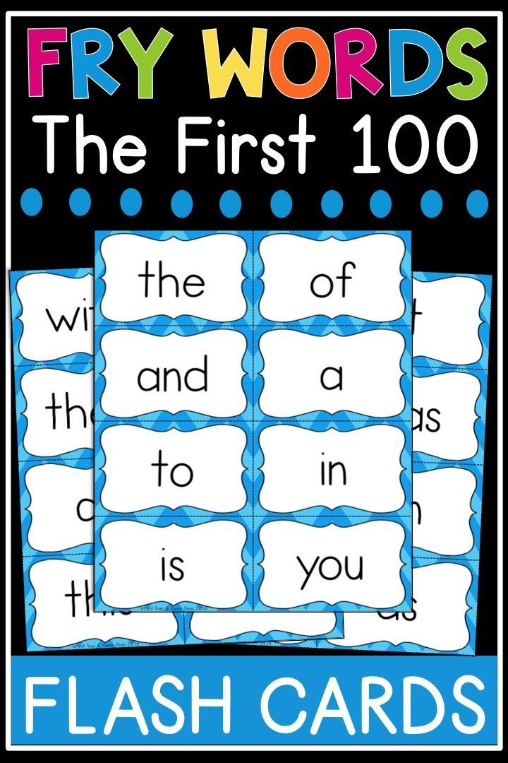 Fry Sight Word Flash Cards The First 100 High Frequency Words