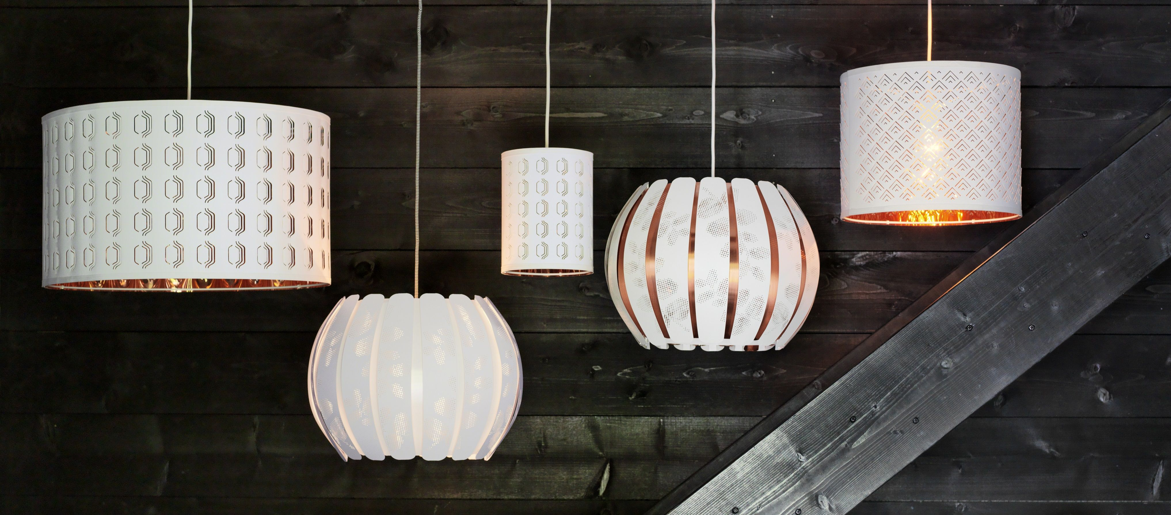 Overud Lampenkap Wit Koperkleur Licht Mudroom Elle Decor En Ikea