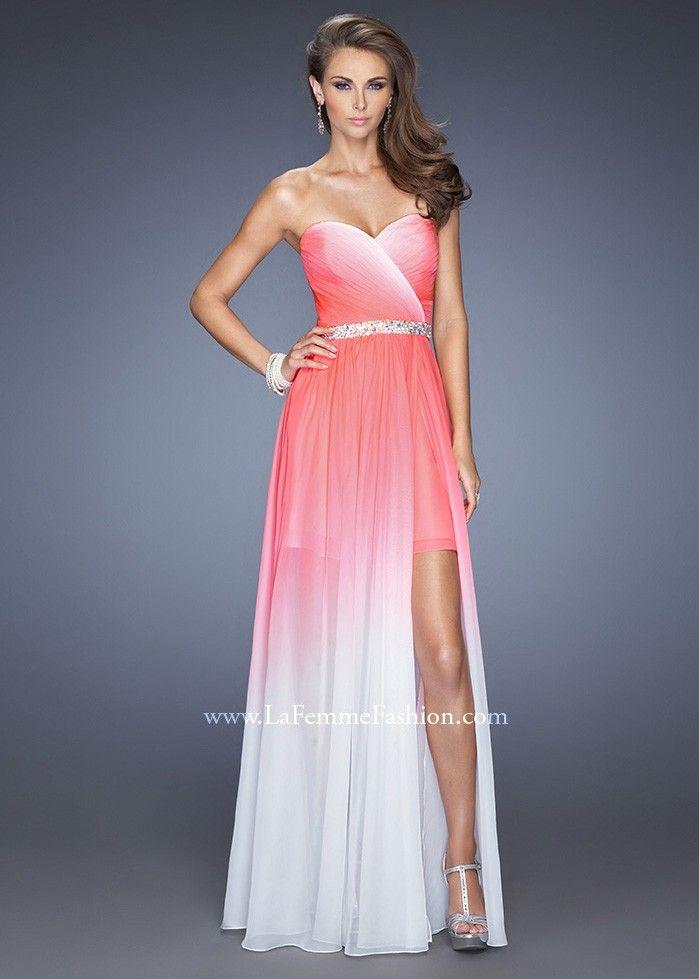 La Femme 20028 Strapless High Low Gown | Estilo