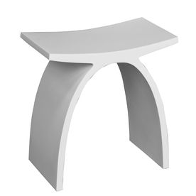 Barclay White Composite Freestanding Shower Seat Iss215