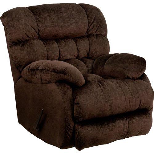 Oakwood Microfiber Recliner Chocolate Walmart Com Rocker Recliners Rocker Recliner Chair Flash Furniture