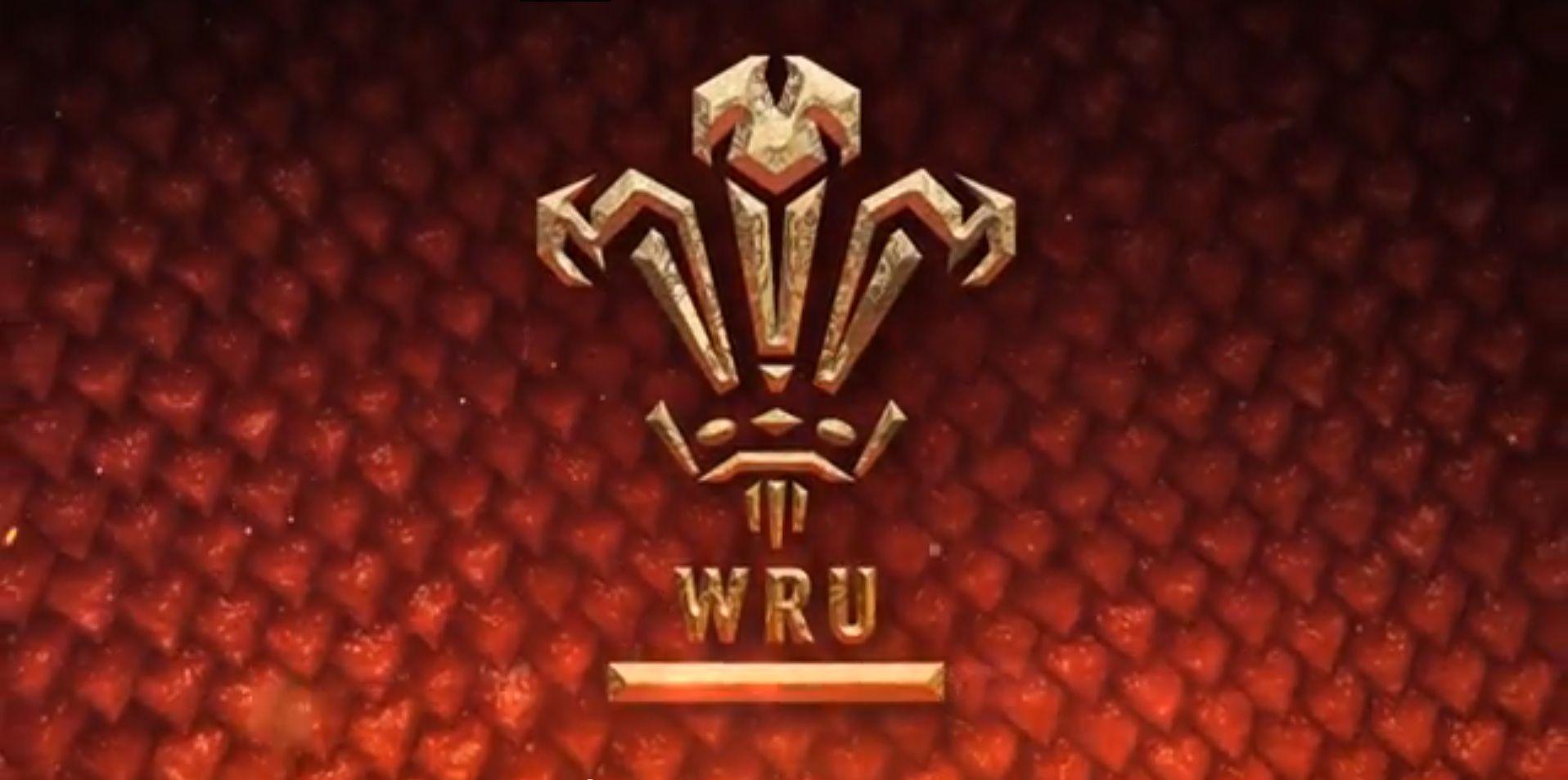 WRU logo on dragon scale background Logos, Art logo