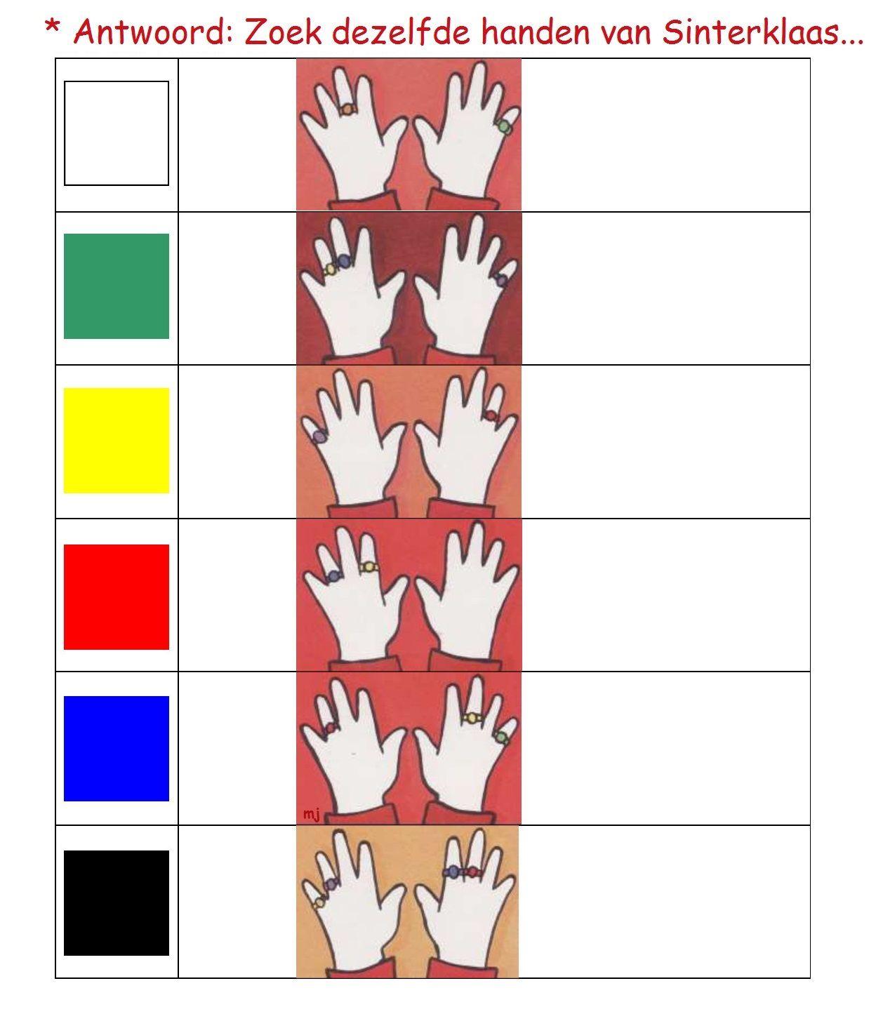 * Zoek dezelfde handen! 2-2