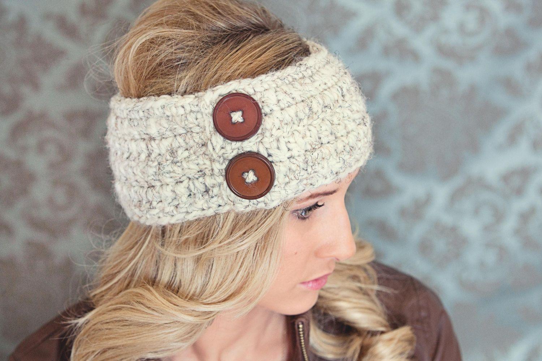 Womens headband crochet headband womens crochet headband womens ear ...