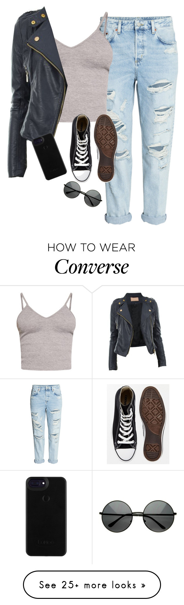 """""""Very cute, yet simple 8"""" by lollypopz951 on Polyvore featuring BasicGrey, Converse and ZeroUV"""