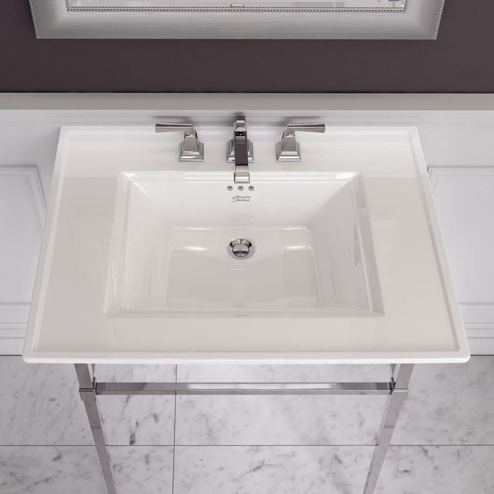 American Standard Town Square S 8 In Widespread Pedestal Sink