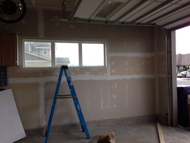 How To Build Shelves And Texture Unfinished Walls In Your Garage Painted Garage Walls Garage Walls Garage Organization Diy