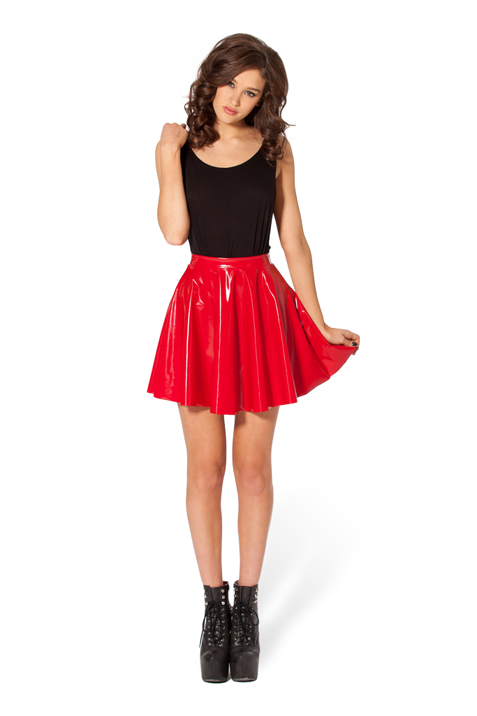 7090b9064fe58 PVC Red Skater Skirt - LIMITED by Black Milk Clothing ($60AUD) Size ...