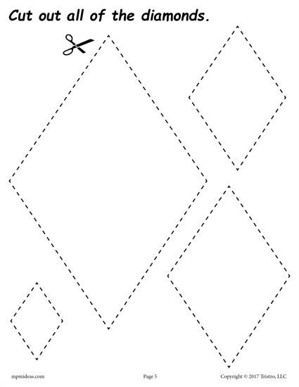 Pin On Shapes Worksheets Coloring Pages Activities Diamond shape worksheet for preschool