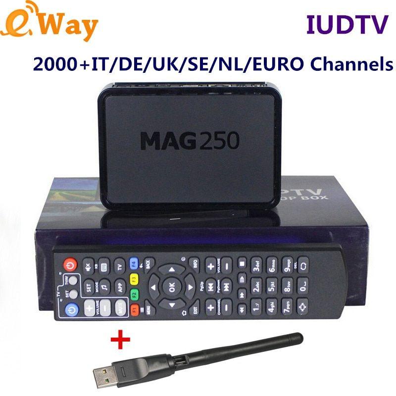 Mag250 TV Box Sweden IPTV Box Turkish IUDTV IPTV