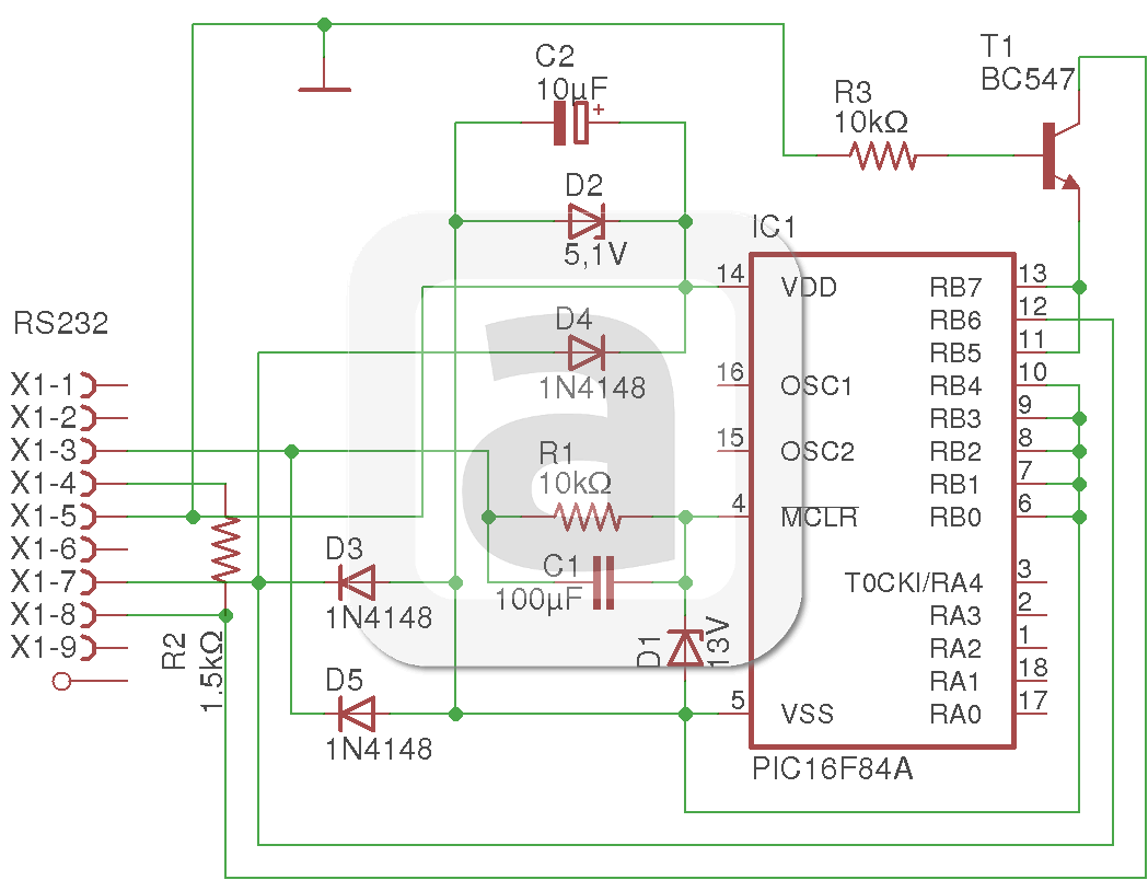 Fig.2 - The basic JDM programmer's schematic | Jdm, Serial ... on
