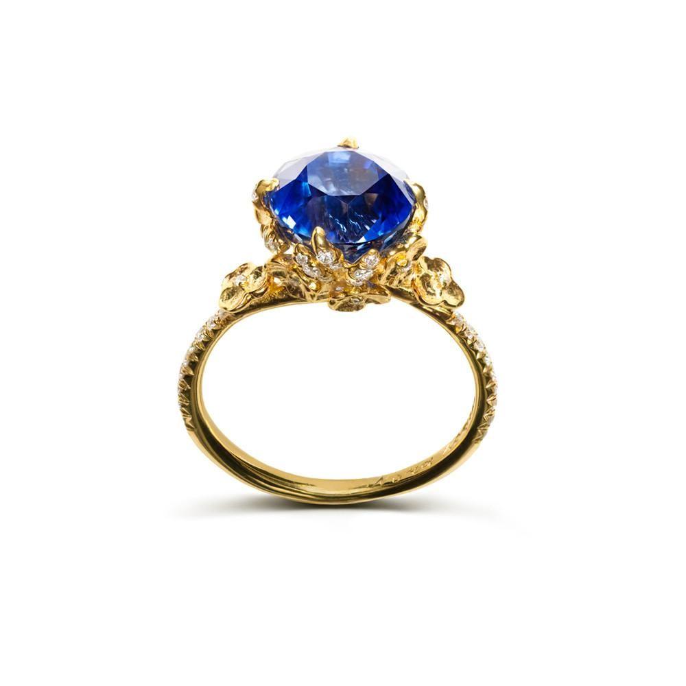 Blue desiree ring sapphire ring and diamond