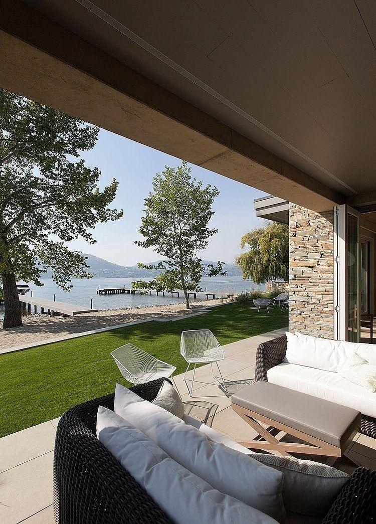 Muebles de jardín en vivienda unifamiliar | Diseño de exteriores ...