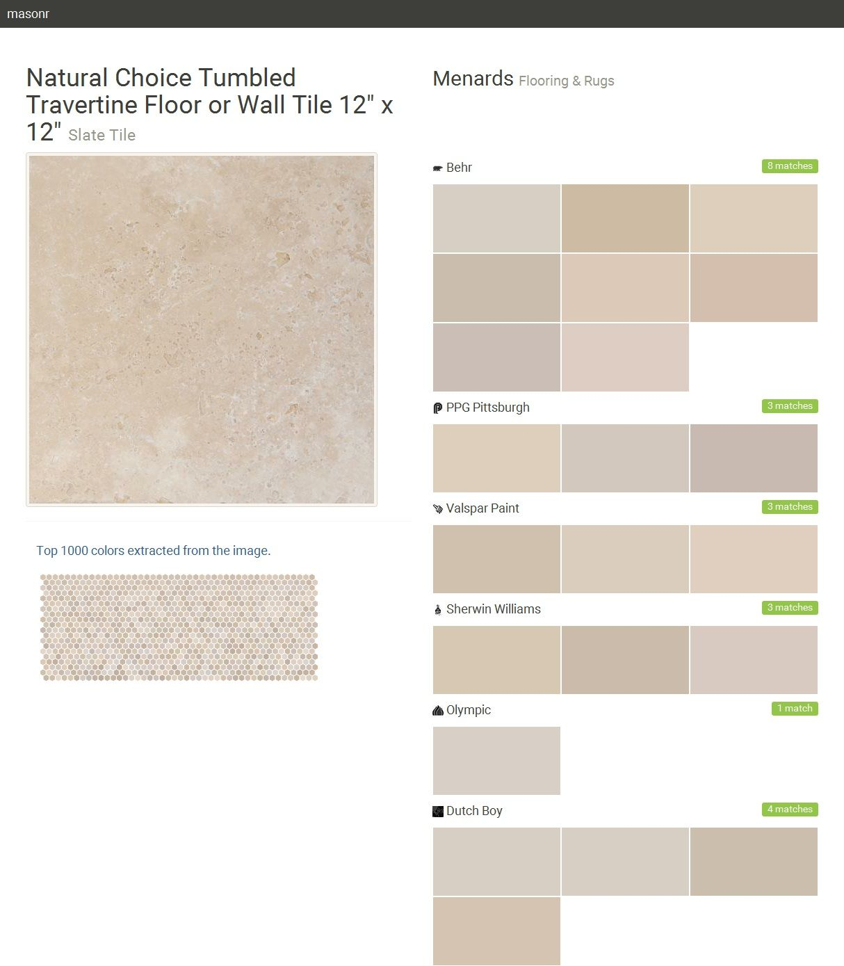 Natural choice tumbled travertine floor or wall tile 12 x 12 natural choice tumbled travertine floor or wall tile x slate tile click the gray visit button to see the matching paint names dailygadgetfo Image collections
