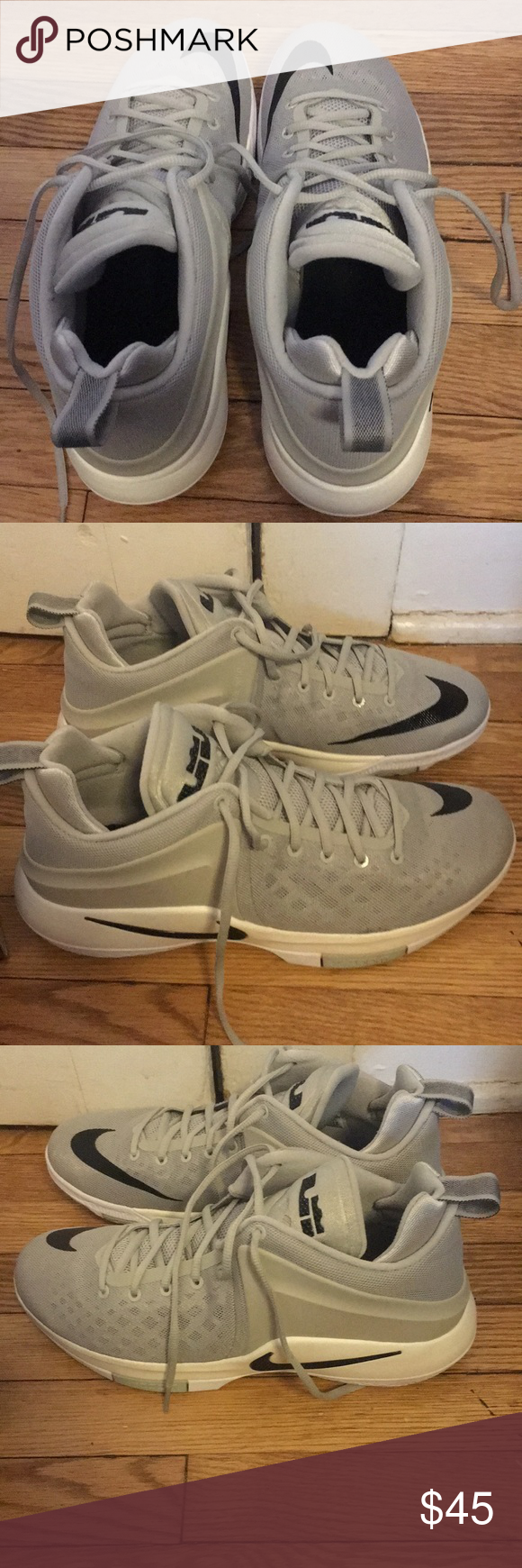 Nike Zoom Lebron Witness In very good condition Nike Zoom Lebron Witness  with original box (no top). Only warn 3 times. Just too big on me.