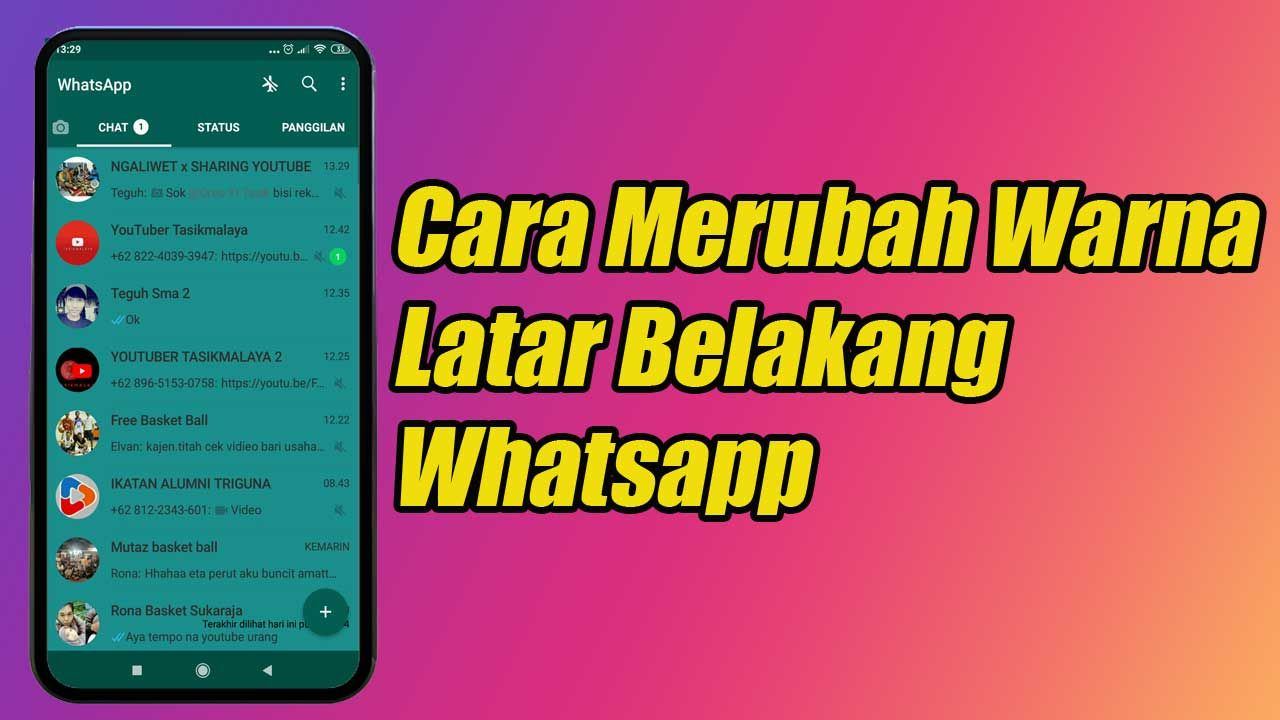 Cara Merubah Warna Latar Belakang Whatsapp Latar Belakang Warna