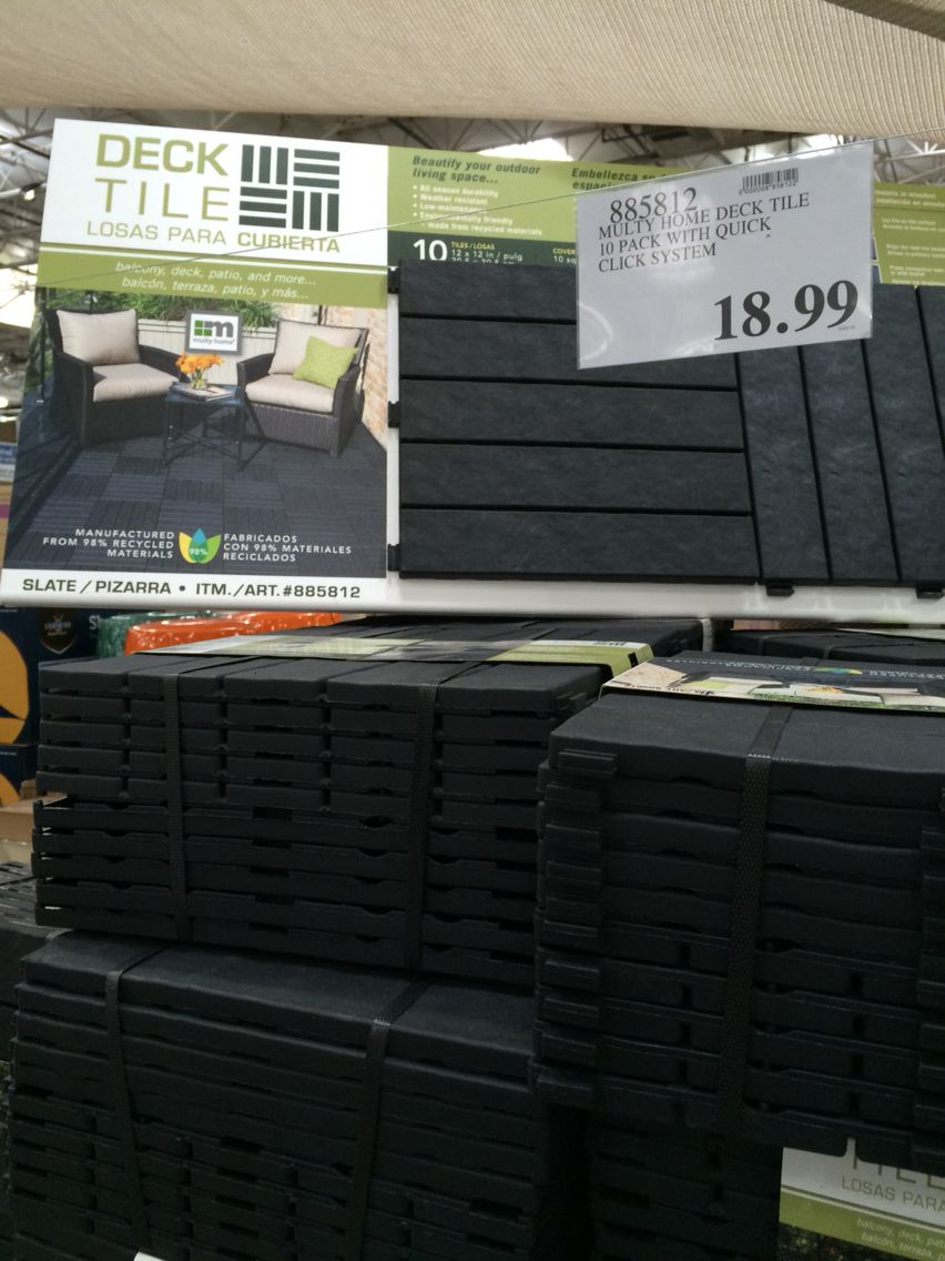 10-pack Patio Deck Tiles. Recycled Material. 18.99 #deck