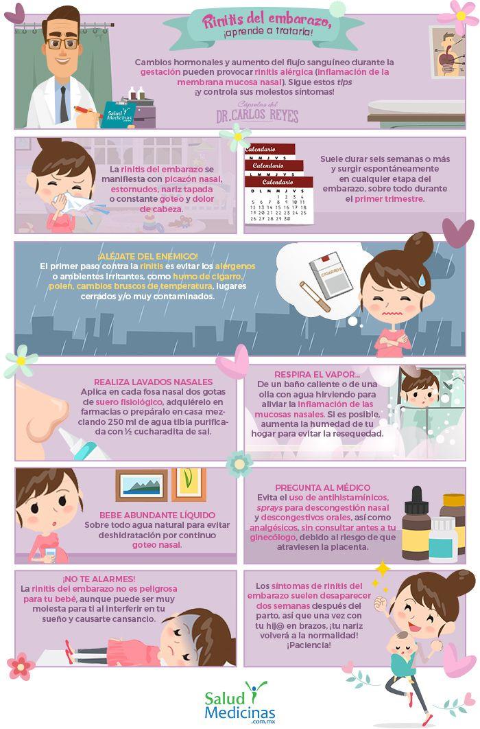 Rinitis Del Embarazo Aprende A Tratarla Síntomas De Embarazo Primeros Síntomas De Embarazo Embarazo