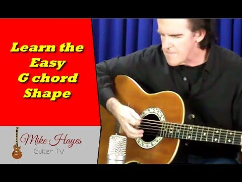 G chord Guitar - How To Teach Yourself Guitar Chords With The Easy G ...
