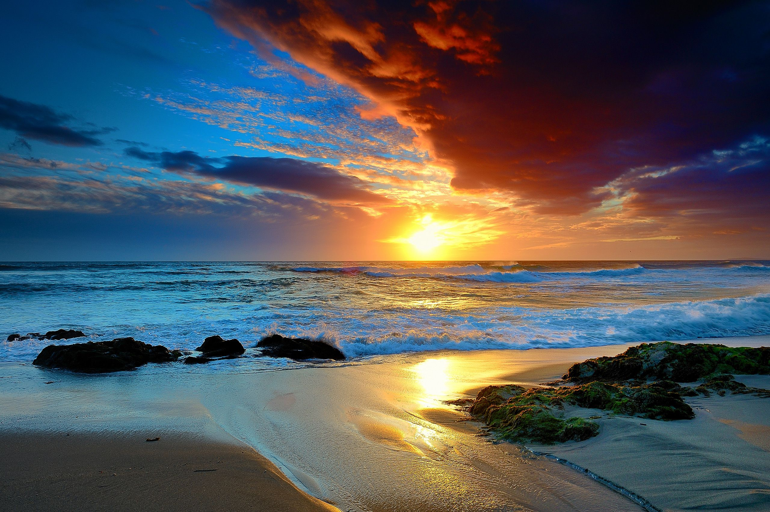 Beautiful Sky Beach Beautiful Hdr Sunset Beach Sunset Wallpaper Beach Landscape Ocean Landscape