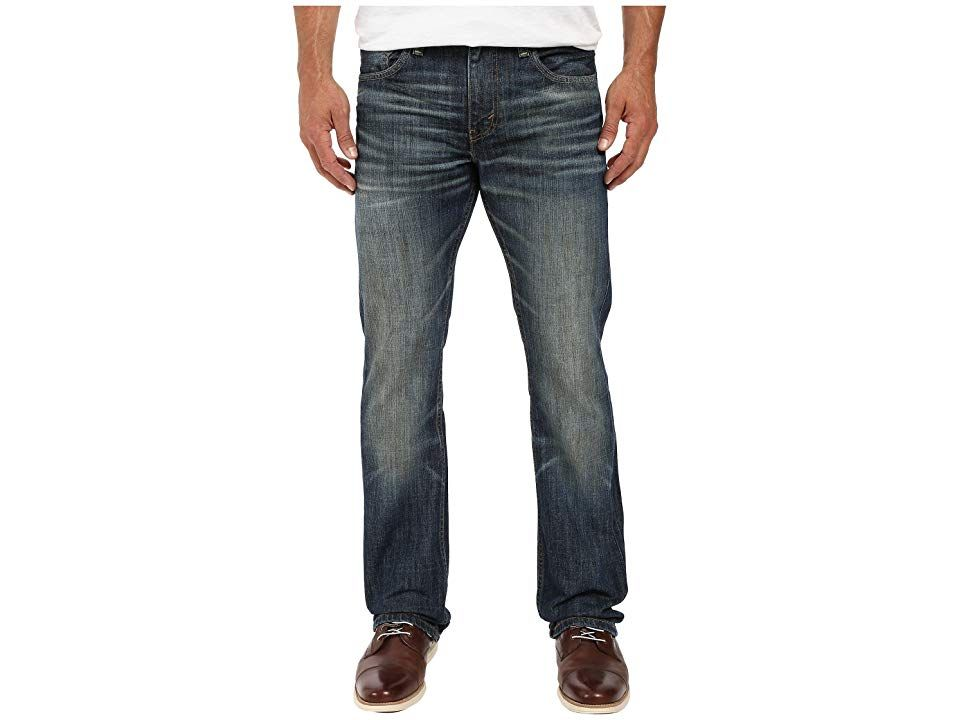 Levi's(r) Mens 527tm Slim Bootcut (Bedside Blues) Men's Jeans. Modern style updates these classic Levi's jeans. 527 is cut slim through the seat and thigh with a classic bootcut leg. Low rise sits below the waist and tilts higher in the back. Five-pocket design with signature arcuate stitch at back. Leather brand patch at back waist. Belt loop waistband. Zip fly and button closure. 100% cotton except on noted washes. Black Sto