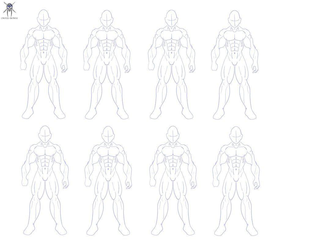 Buff male template   Set & Costume Design   Pinterest   Male body ...