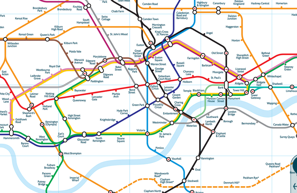 London England Subway Map.Geographically Accurate London Underground Map Infographics In