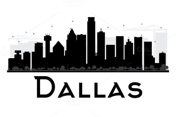 Dallas City Skyline Silhouette City Skyline Silhouette Dallas City City Silhouette