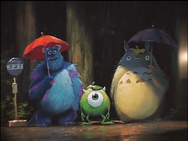#monsters inc #pixar #my neighbour totoro #mike wasawski #james p sullivan #sulley