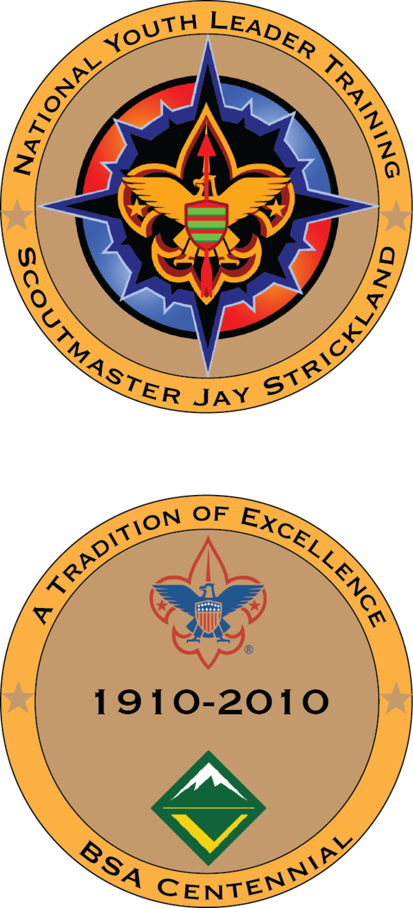 National Youth Leader Training (NYLT) coin for the GAC