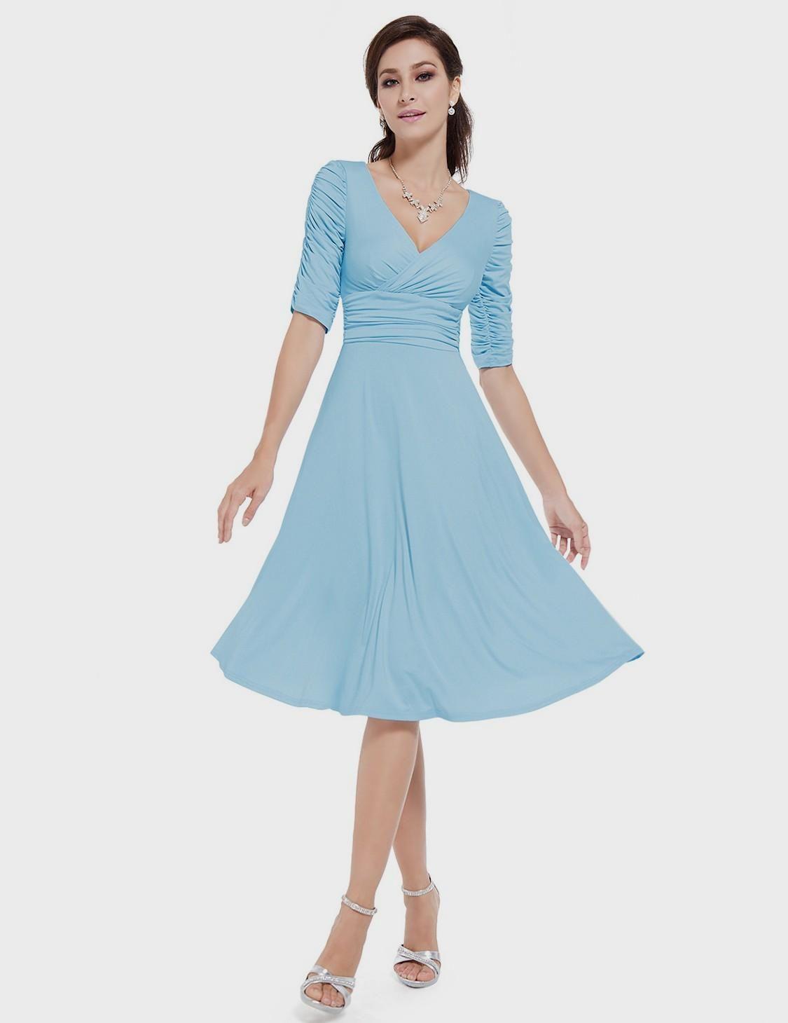 Blue Dress Casual 3 4 Casual Cocktail Dress Light Blue Casual Dress Blue Dress Casual [ 1460 x 1125 Pixel ]