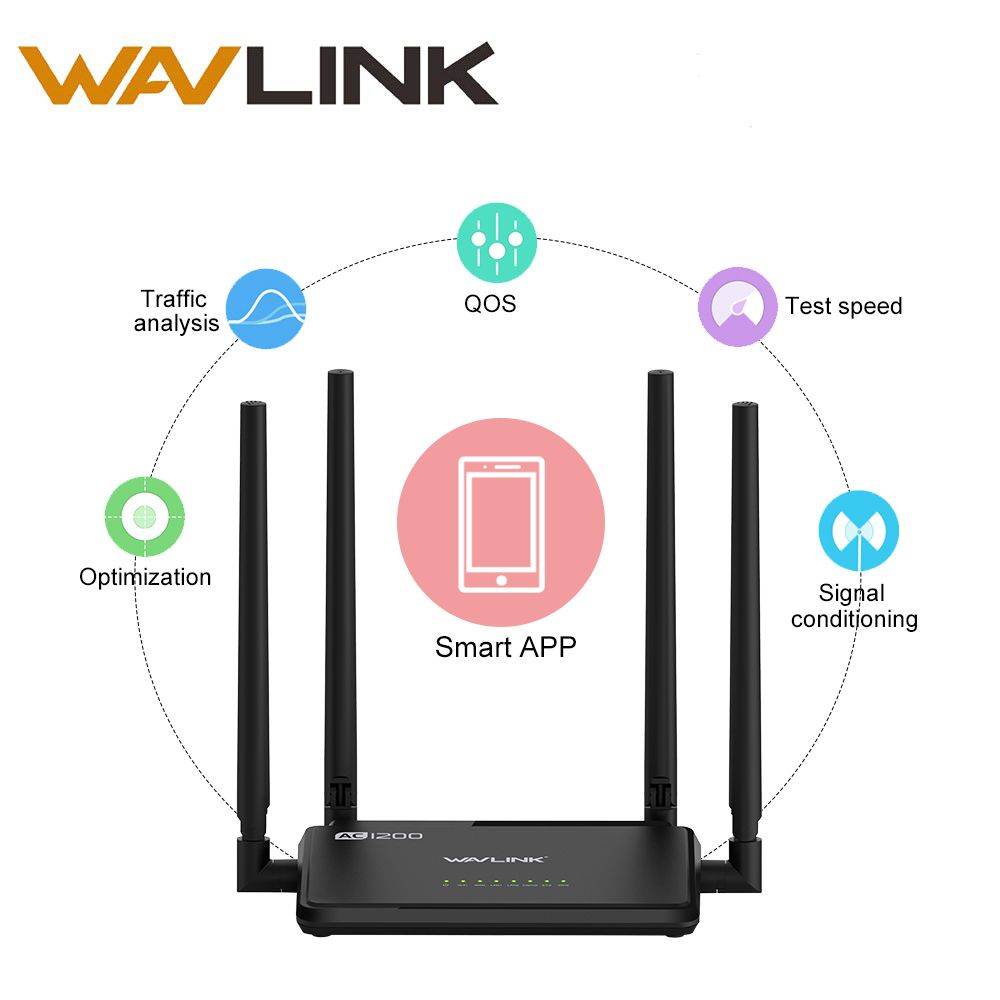2017 New Wavlink Ac1200 High Power Wifi Dual Band Router 24ghz 5ghz Tenda N301 Wireles 300mbps 4port 2 Antena Wireless