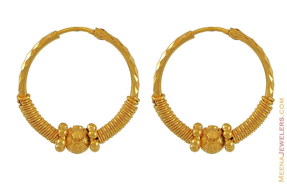 Gold Earrings for Women | Hoop Earrings (22K Gold ...